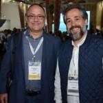 Claudio dos Anjos, da Gol, e Erico Cestarole, da Azul Viagens