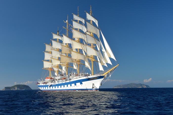 Com capacidade para 227 passageiros, o veleiro Royal Clipper terá saída temática de gastronomia em setembro de 2020 pelo Mediterrâneo