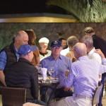 Competidores do Torneio de Golfe participam do coquetel de abertura do evento