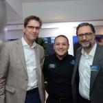 Damien Talvard, da Disneyland Paris, Luiz Aráujo, da Disney, e Mauricio Alexandre, da RCA