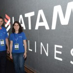 Daniel Almeida e Caroline Carbone, da Latam Travel