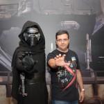 Darth Vader, do Star Wars, e Josef Prado, da agência La em Orlando