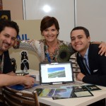 Diego Disabato, da SAA, Beatrice Collon, da Rovos Rail, e Caio Brusamarello, da Marketing Collection