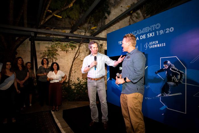 Eduardo Gaz, CEO da SKIBrasil e Ian Douglas, representante da Aspen Snowmass