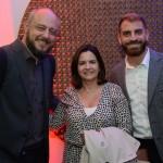 Eduardo Murad Júnior, da Alagev, Soely Oliveira, da BCD Travel e Pedro Abi-Rihan, da CWT