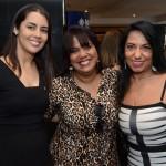 Elizangela Silva, da MSC, Lia, da Acapulco Turismo, e Cláudia dip, da Bora Bora Turismo
