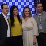 Fábio Belém, Nathalia Moura, Lucimar Reis e Renato Silva, da CVC Corp