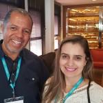 Fábio Lucas, da RR Viagens Taubaté e Cibele Fernandes, da Voare de São José dos Campos
