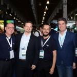 Fabio MAder, da CVC Corp, Renzo Rodrigues, da Gol, Luiz Viveiros, da CVC Corp, Juarez Cintra Neto, da Ancoradouro, e Luciano Guimarães, da Rexturadvance