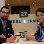 Fabrice Widmer, da Blue Train, e Martina Lalor, da Swan Turismo