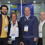 Fernando Arruda, do Grupo Camar, Mari Masgrau, do M&E, Luis Calle, da Camar, e Drausio Tabuso, da Tabuso Turismo