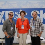 Fernando Navarro, da Talk Snow; Vanda Catão, da Titlis; e Felipe Machado, da Talk Snow