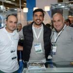 Fernando Santos, Robson Tischer e Robson Larangeiras, do Grupo Confiança