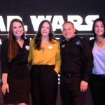 Gabriela Delai, Paula Barreto, Luiz Araújo, e Fernanda Freitas, da Disney Destinations