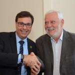 Gilson Machado Neto, presidente da Embratur, e João Carlos de Oliveira, da Setur-SP