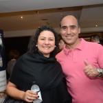 Giselle Alves, da Viajar e Viver Turismo, e Luiz Antonio Bussi, da Sanchat Tour