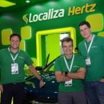Glauco Zebral, Paulo Henrique Pire, e Gustavo Souza, da Localiza