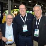 Goiaci Guimarães, Gustavo Hahn, da Trend, e Sylvio Ferraz, da CVC Corp