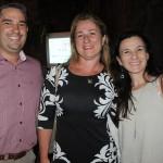 Guilherme Martins, da Blanctour, com Talita Furtado e Fernanda Villas Boas, do Atelier de Viagens