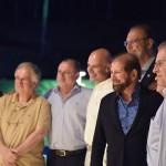 Guilherme Paulus, fundador do Golf Brasil Torneio, da GJP Hotels e da CVC, recepciona seus convidados e parceiros durante o coquetel