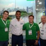 Gustavo Souza e Glauco Zebral, da Localiza, com Juliano Braga e Roy Taylor, do M&E