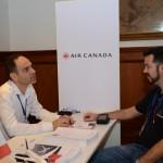 Hugo Silva, da Air Canada, e Chico Pimenta, da Intercultural