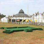 Mini campo de golfe no Jardins de Jurema