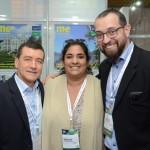 Ivan Blanco, Guadalupe Paz e Diogenes Toloni, da Aerolíneas Argentinas