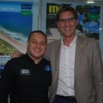 Luiz Araújo, da Disney, e Damien Talvard, da Disneyland Paris