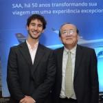 João Pita, do GRU Airports, e Eduardo Sakamoto, da ANA
