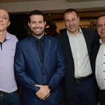 Jonas Dahmer, da Trend, Bruno Cordaro, da MSC, André Allegri e Orlando Palhares, da CVC