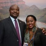 Joseph Mashimbye, embaixador da África do Sul, e Nompumelelo Mqwebu, da Kumyoli Culinary Experiences