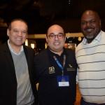 Kadu, da SAA, entre Vicent Brasil e Jackson Soares, da CVC Corp