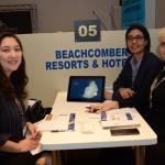 Katia Silva, da Diversa Turismo, Clyanne Ah Youne, da New Mauritius Hotels, e Christina Kler, da BG