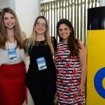 Larissa Santos e Lígia Maas, da Copastur, e Leila Melo, da Porta Voz Assessoria