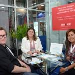 Leonardo Segantin, da Ezlink Hotels, Marisa Zamboni e Cristina Manfrino, do Palace Resorts