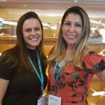 Lilian Castro, da Embarque Rapido.com e Nelly Lopes, da Típica Turismo Jundiaí