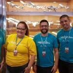 Luísa Bernardino, gerente da filial de São José dos Campos com seus executivos de contas William Silva, Bruno Seraphim e Edvaldo Ferraz