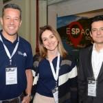 Luciano Motta, Vânia Dezordi e Eduy Azevedo, do Mabu Thermas Resorts