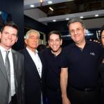 Luciano de Camargo, Estevão Neves e Regina Biondi, do Enotel, com Cristiano Placeres e e Cleito Armelin, da CVC Corp