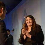 Magda Nassar, presidente da Abav Nacional, recebe Lummertz na abertura da Abav Expo 2019