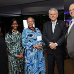 Manoela Silva, da SAA, Zuks Ramasia, CEO da SAA, Pumla Luhabe, commercial da SAA, Antônio Claret, da DAESP, e Altamiro Medici, diretor da SAA no Brasil