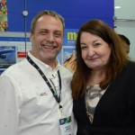 Marcelo Ammirati, da Bentour Brasil, e Magda Nassar, presidente da Abav