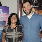 Marcia Galvão, da NCL, e Marco Ferrer, da Oceania Cruises