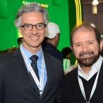 Marco Ferraz, da Clia Brasil, e Guilherme Paulus, da GJP
