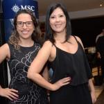 Mariana Macedo, da MSC, e Luciana Marçola, da Neo Turismo