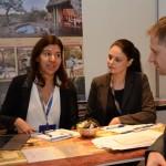 Marisa Silva e Sara Pizza, da Rhulani Safari Lodge, e Gustavo Palermo, da Crown Travel