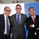 Massino Brancaleone, Senior Vendas Globais, Neil Palomba, presidente global, e Dário Rustico, presidente executivo para America do Sul da Costa Cruzeiros