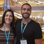 Mayara Silva e Gabriel Alarcon, da Invicta Viagens, de Campinas