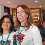 Mina Barros, da Conexão Viagens e Agda Camargo – Agda Viagens, ambas de São José dos Campos